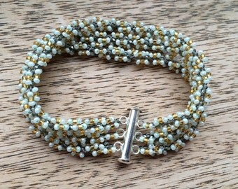 Three Strand Spiral Beaded Bracelet