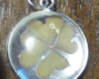 Lucky four leaf clover - Clover - Lucky - Pendent -Irish -