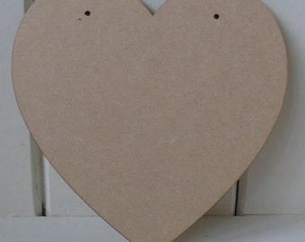 10 (15cm) Wooden Heart Shapes Craft Wedding Birthday Or Plaque