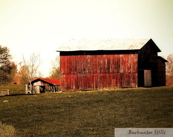 Barn Art Photo Print - Red - Barn Art - Landscape