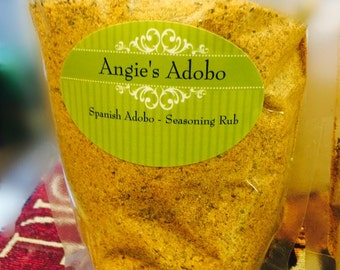 Angie's Adobo Gourmet Seasoning Rub ****(7 oz. sent in resealable poly bag)**** FREE SHIPPING INCLUDED!