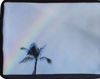 Tablet Case/ iPad Sleeve/ Zipper Bag// Rainbow// Palm Tree// Hawaii// Oahu