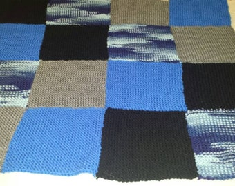 Hand knit baby/throw blanket
