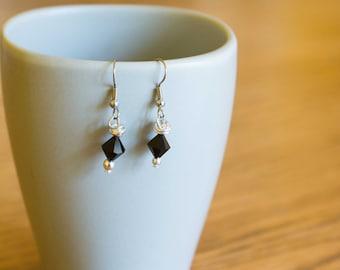 Nickel Free, Lead Free Black Dangle Earrings