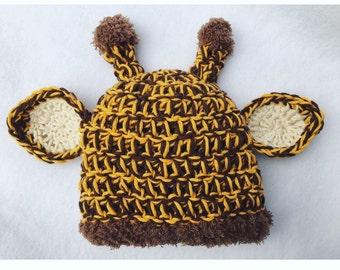 Crochet Baby Giraffe Hat