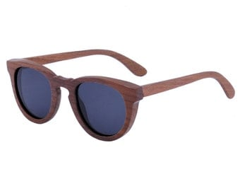 Wooden Sunglasses Round Keyhole- Ziba Wood Sunglasses: The Esquire