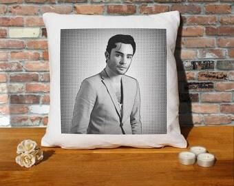 Ed Westwick Cushion Pillow - Pop Art - 100% cotton - 16x16 inches
