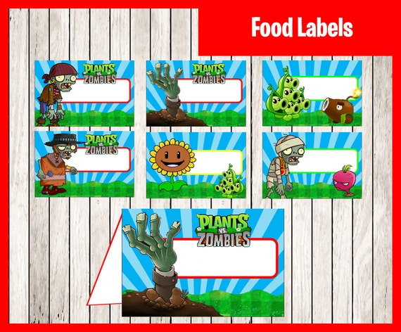 Plants vs zombies paw patrol food tent cards by printnatyparty for Table zombies pdf