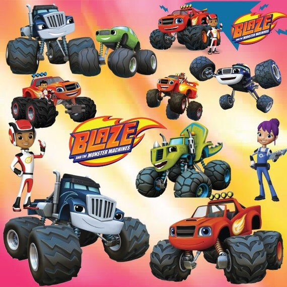 25 blaze and the monster machines clipart by geniusstoreart for Blaze cartoni
