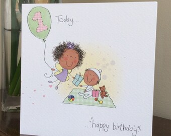 Age one birthday card