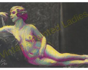 Vintage Painted Lady Notecard with Envelope
