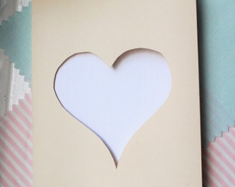 Greeting card heart