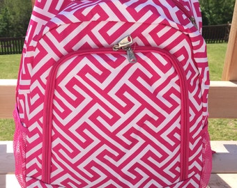 SALE pink geometric backpack,geometric school bag,geometric bookbag,geo diaper bag,personlized geometric backpack,geometric tote,pink tote