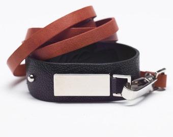 Natural leather bracelet for women