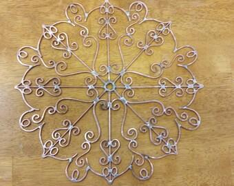 Copper Mandala suncatcher/wallart