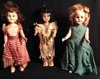 Vintage Doll Set of Three