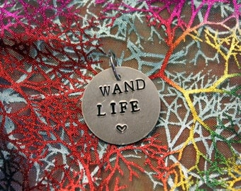 Wand Life stamped pendant