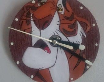 Shere Khan polymer clay clock