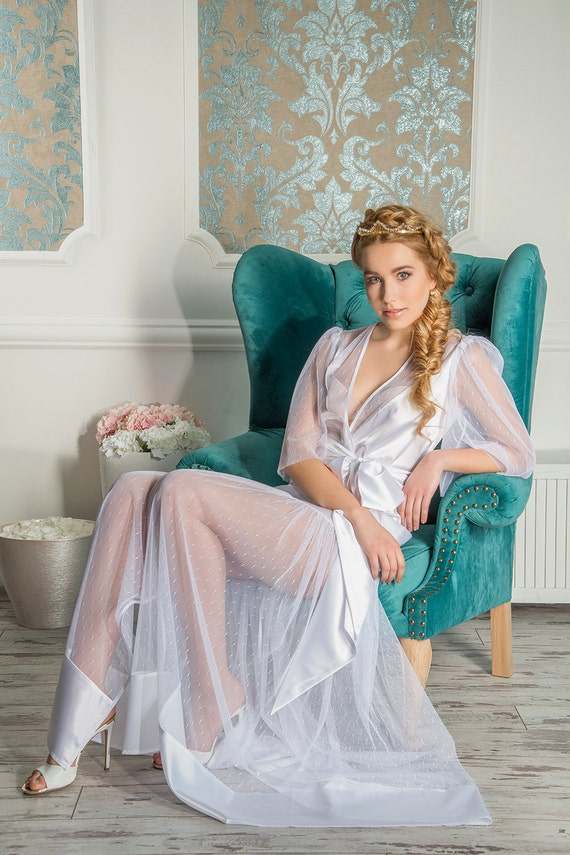 Bridal robe style 1616r wedding robe bridal lingerie womens for Corset bra for wedding dress