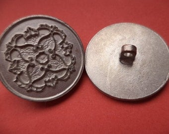 24 mm (4806) metal button buttons 7 metal buttons silver
