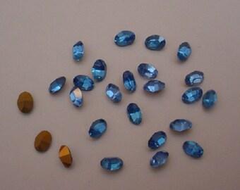 25 Sapphire Ovals 8x5 mm