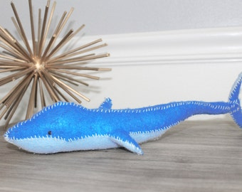 Natural Wool Whale Felt Baby Toy