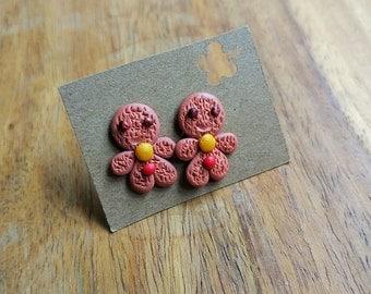 Gingerbread cookies stud earrings