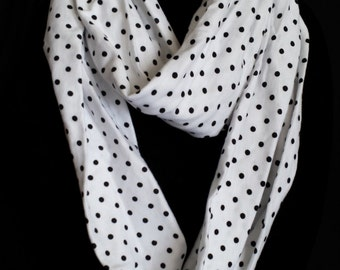 Infinity Scarf - Knit with Polka Dots