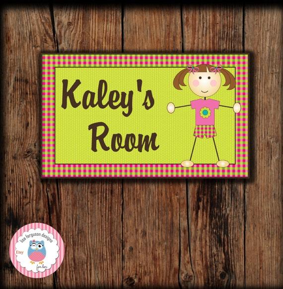 Personalized Gymnastics Bedroom Door Sign For Kids