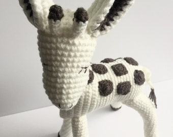 Handmade crochet 'Keeley The Giraffe' in chocolate & cream