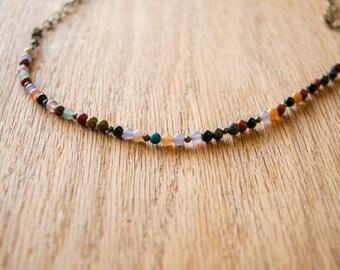 Dainty mixed bead necklace