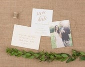 The Birch Wedding Collection by Paper Daisies, Save the Dates, Rustic, SAMPLE SET