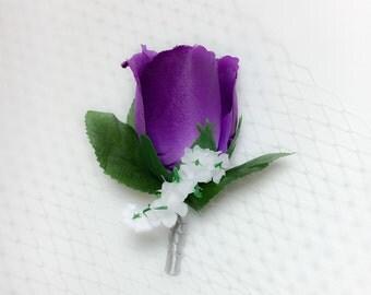 Purple Boutoniere
