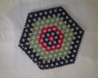 beadwork table mat