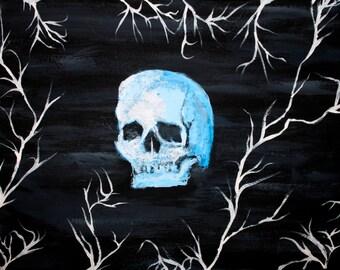 blue skull - acryl