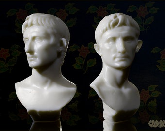 3D Printed Bust of Augustus // Model // Sculpture // Decor