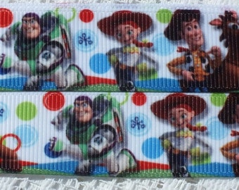 "Disney Toy Story Character 7/8"" (22 mm) Grosgrain Ribbon, Hair, Cake, Craft, Sewing, Scrapbooking (1 Yard Length)"