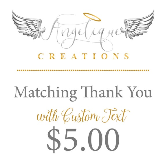 Made to Match Thank You Card with Custom Text