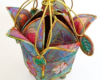 Textile Treasure Flower  Pod