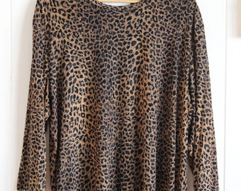 Leopard print, blackout, top, 70's, 80's, 90's, party, fun, grunge, over sized tee