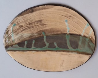 sushi tray, hand made ceramic tray, Serving Platter, Hostess Gift, Home Gift, wabi saby pottery