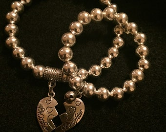 Mommy and me/Mother and daughter matching bracelets