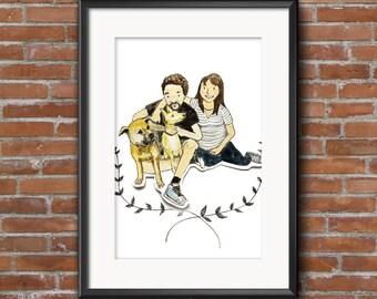 Custom couple/ family portrait