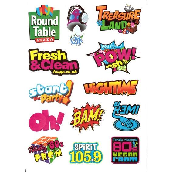 Items similar to Sticker Sticker Decals Cute Kids 80s Words Zoom ...