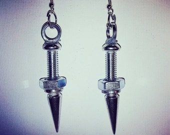 DareByKionde #SpikedAndScrewed collection earrings