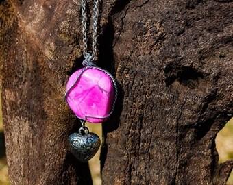 Pink Howlite Gemstone Necklace
