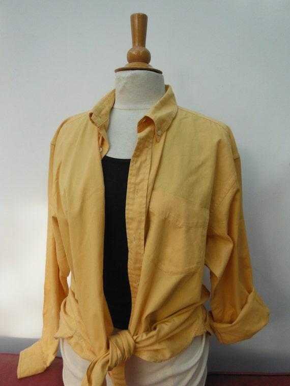 Vintage Yellow Shirt - Oversized - Size 10 12 14 M L XL