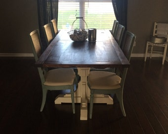 Solid Wood Farm Dining room table