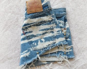 High Waisted Denim Jean Shorts SALE and READY MADE