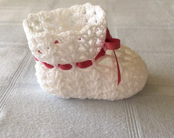 Crocheted Baby Bootie Favors